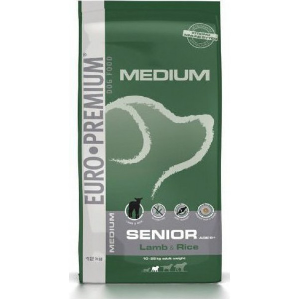 EUROPREMIUM SENIOR MEDIUM LAMB&RICE 12 kg