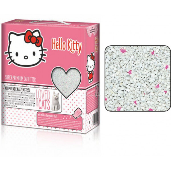 HELLO KITTY CAT LITTER BABY POWDER 8 lt